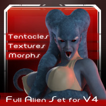 Mnemosyne - Alien character for V4 - Extended License 3D Figure Assets 3D Models Extended Licenses meipe