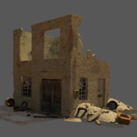 Building Destroy - Extended License 3D Models Extended Licenses Dante78