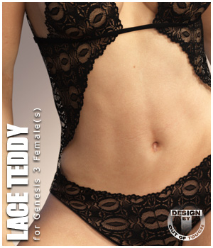 Lace Teddy for Genesis 3 Female(s) - Extended License 3D Figure Assets Extended Licenses outoftouch
