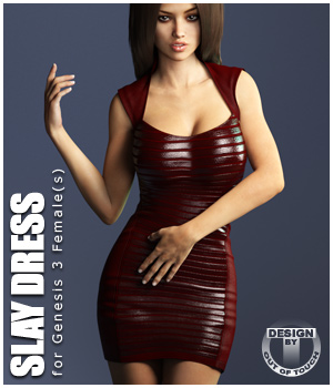 Slay Dress for Genesis 3 Female(s) - Extended License Gaming 3D Figure Essentials outoftouch