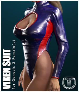Vixen Suit for Genesis 3 Female(s) - Extended License 3D Figure Assets Extended Licenses outoftouch