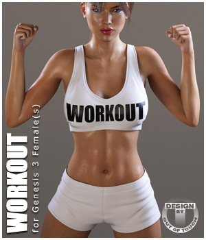 Workout Outfit for Genesis 3 Female(s) / V7 - Extended License 3D Figure Assets Extended Licenses outoftouch