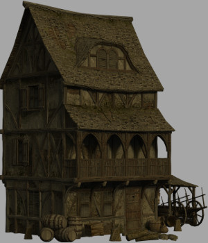 Medieval House 2 - Extended License 3D Models Extended Licenses Dante78