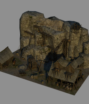 Medieval Quarry - Extended License 3D Models Extended Licenses Dante78