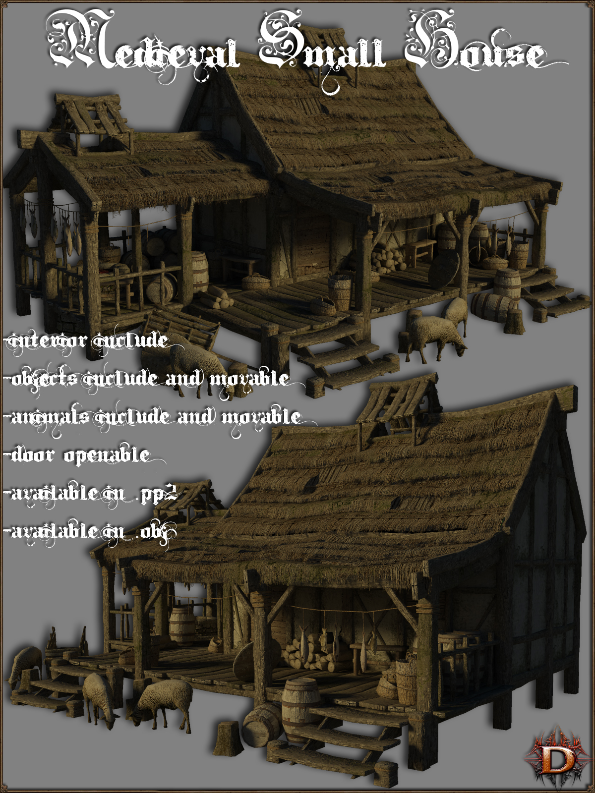 Medieval_Small_House - Extended License