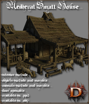 Medieval_Small_House - Extended License Gaming 3D Models Dante78