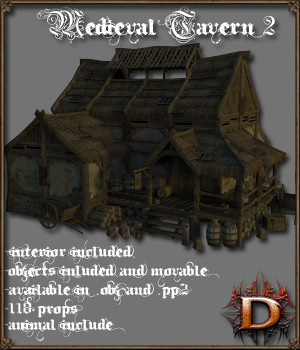 Medieval_Tavern_2 - Extended License 3D Models Gaming Dante78