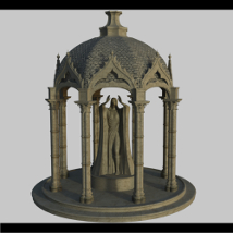 The Temple Lady - Extended License 3D Models Extended Licenses Dante78