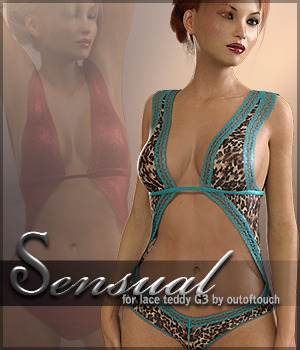 Sensual for Lace Teddy G3 3D Figure Essentials Sveva