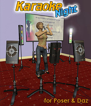 Karaoke Night 3D Models Simon-3D