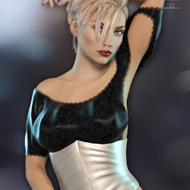 Lace Crop Top for Genesis 3 Females image 5