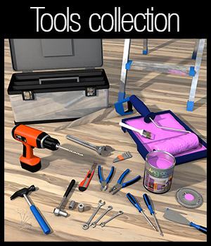 Everyday items, Tools 3D Models 2nd_World