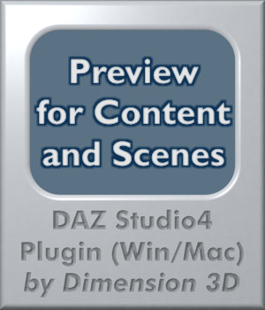 Content Preview for DAZ Studio 3D Software : Poser : Daz Studio : iClone Dimension3D