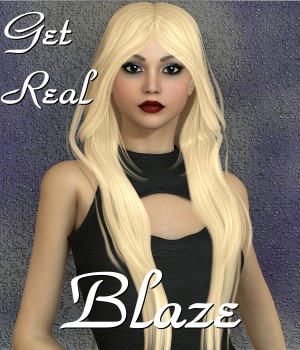 Get Real for Blaze hair 3D Figure Assets chrislenn