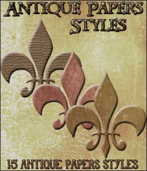 Antique Papers Styles; 2D Graphics MarieMcKennaDesigns