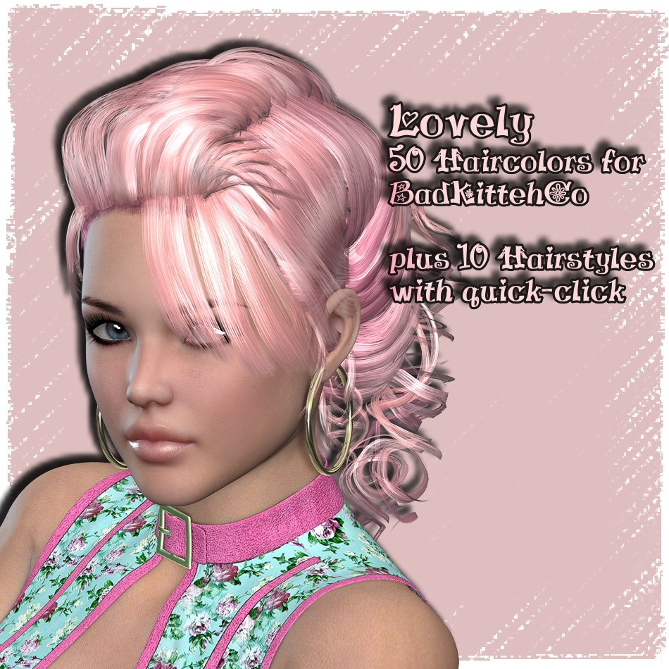 AM: Lovely - 50 Colors and 10 Styles for Pinque-Curls