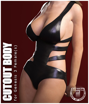 Cutout Body for Genesis 3 Female(s) 3D Figure Assets outoftouch