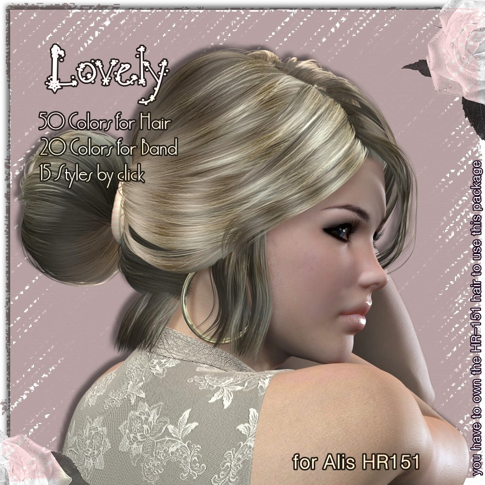 AM: Lovely - Colors and Styles for Hr-151 by LUNA3D