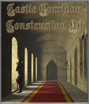 Castle Corridor Construction Kit - Extended License 3D Models Gaming Extended Licenses 3-d-c