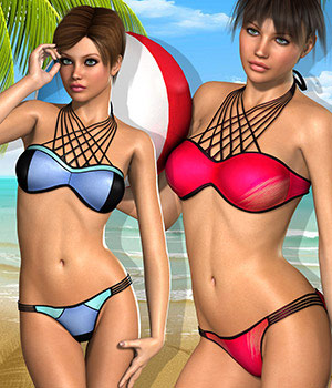 Maldives for MMCross Bikini 3D Figure Essentials Atenais