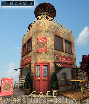 Cafe Continental 3D Models BlueTreeStudio