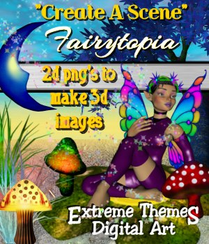 """Create A Scene"" Fairytopia 2D Merchant Resources ExtremeThemes"