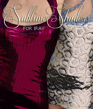Sublime Iray Shaders Vol 1 3D Figure Essentials 3DSublimeProductions