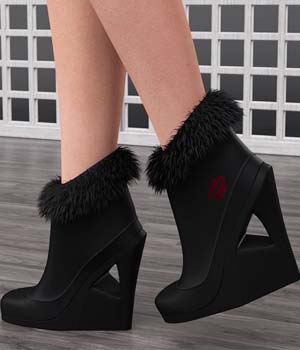 Just A Kiss Boots for Genesis 2 Female(s) 3D Figure Assets OziChick