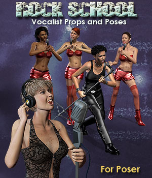 Rock School Vocalists for POSER 3D Figure Assets 3D Models Simon-3D