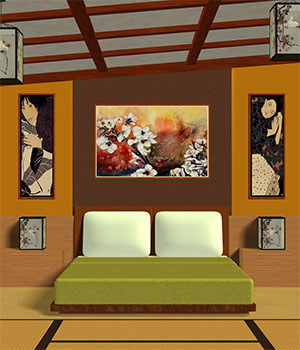 Asian-Styled Bedroom 3D Models Richabri