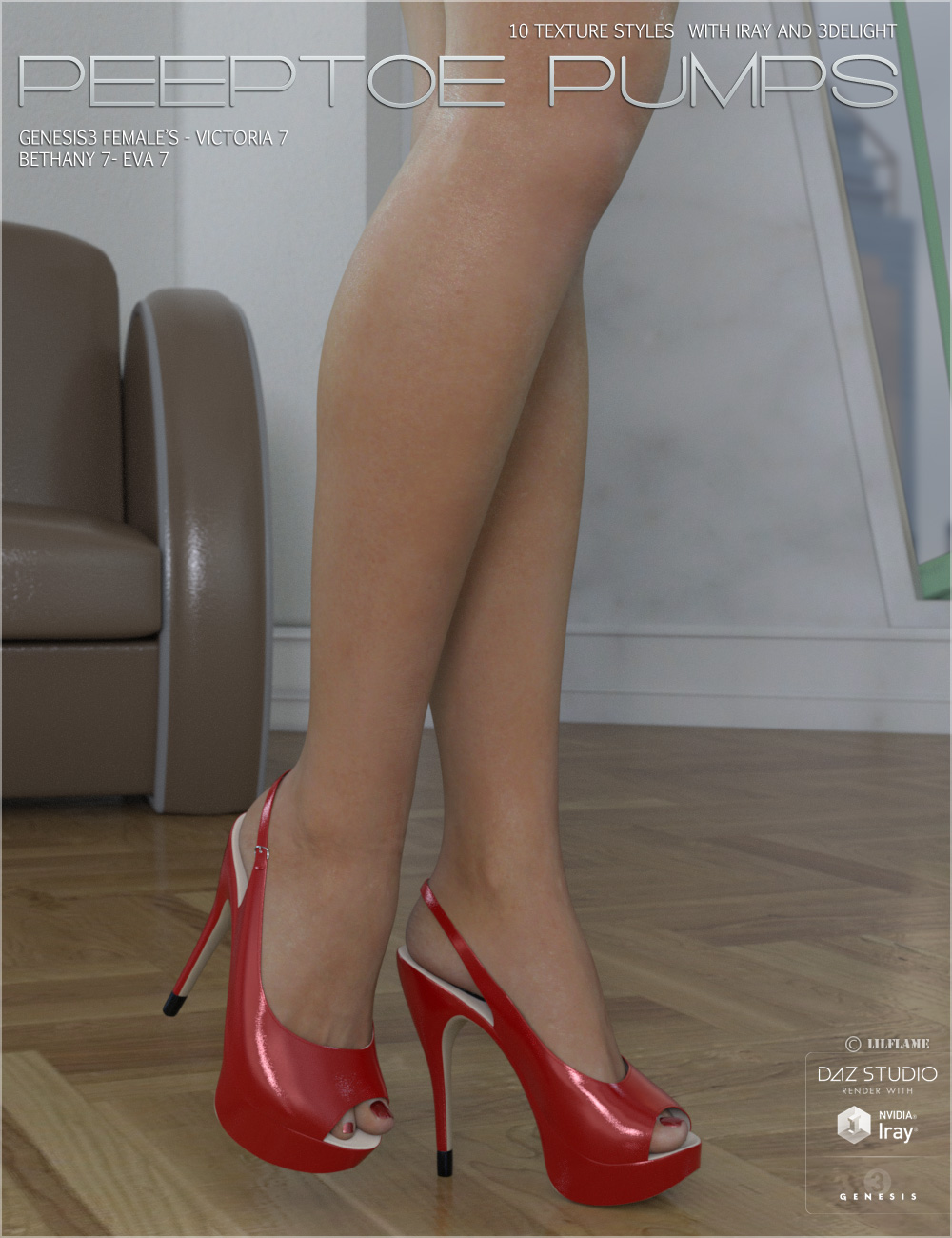 Peeptoe Pumps for Genesis 3 Females by lilflame