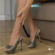 Peeptoe Pumps for Genesis 3 Females image 1