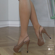 Peeptoe Pumps for Genesis 3 Females image 2