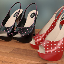 Peeptoe Pumps for Genesis 3 Females image 4