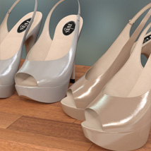Peeptoe Pumps for Genesis 3 Females image 5