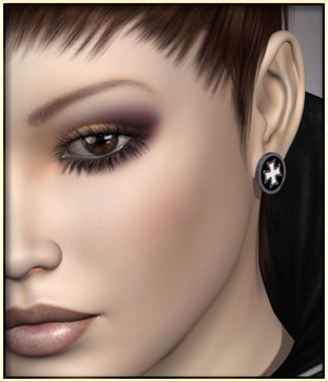 VYK_Stud Earrings 3D Figure Assets vyktohria