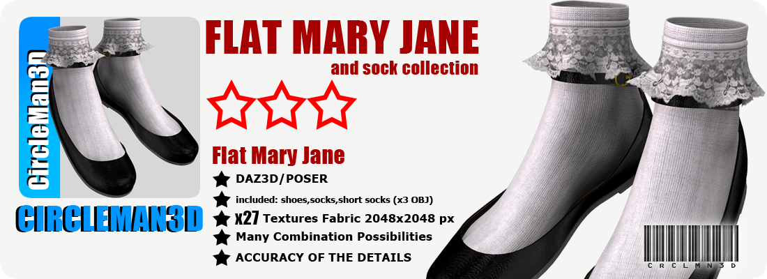 Flat Mary Jane and socks collection