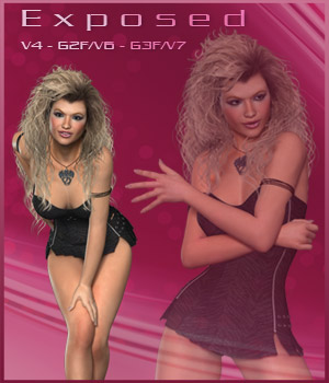 Exposed - V4 - G2F/V6 - G3F/V7 3D Figure Essentials ilona