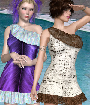 DA-SummerFun for Summer Dress 3D Figure Assets DarkAngelGrafics