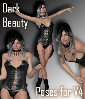 Dark Beauty Poses for V4 3D Figure Assets vanda51
