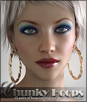 SV's Chunky Hoop Earrings G3F 3D Figure Assets Sveva