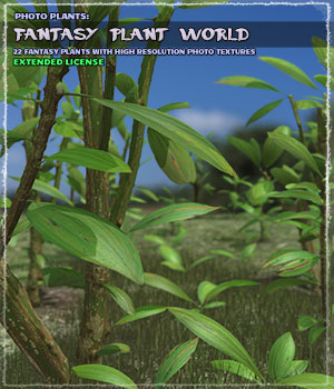 Photo Plants: Fantasy Plant World - Extended License 3D Models Extended Licenses ShaaraMuse3D
