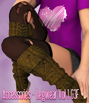 Accessories - Legwear Volume 1 - Genesis 3 Female 3D Figure Essentials kaleya