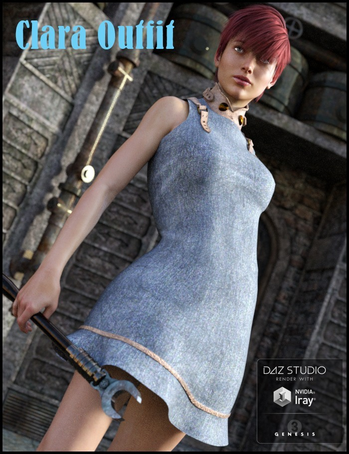 Clara Outfit for G3F