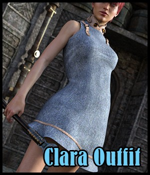 Clara Outfit for G3F 3D Figure Essentials Nathalie_