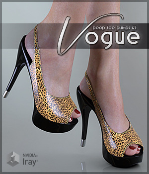 Vogue for Peep Toe Pumps G3 3D Figure Assets Sveva
