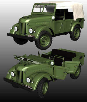 GAZ69 COMMAND CAR (Poser and .obj ) 3D Models Nationale7