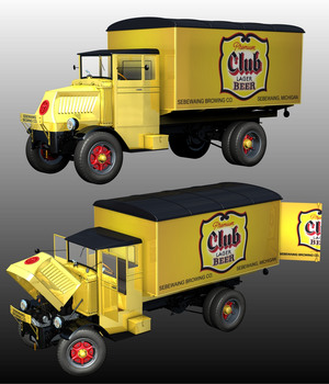 MACK AC 1937 DELIVERY ( Poser and .obj ) 3D Models Nationale7
