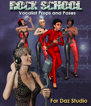 Rock School Vocalists for DAZ 3D Models Simon-3D