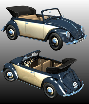 VOLKSWAGEN KARMANN 1950 3D Models Nationale7